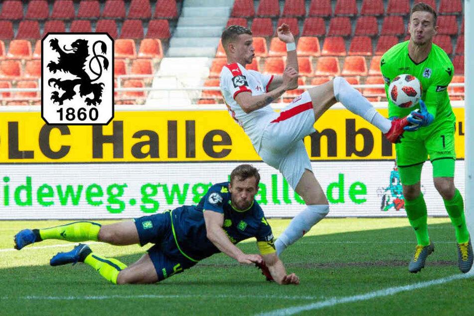 Schwacher Auftritt: TSV 1860 München geht in Halle unter