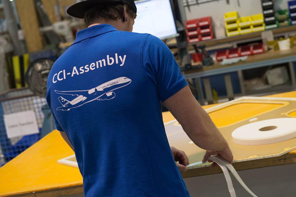 In Kodersdorf produziert die Firma CCI-Assembly, die auch zu den Elbeflugzeugwerken gehört, Leichtbauelemente für Airbus.