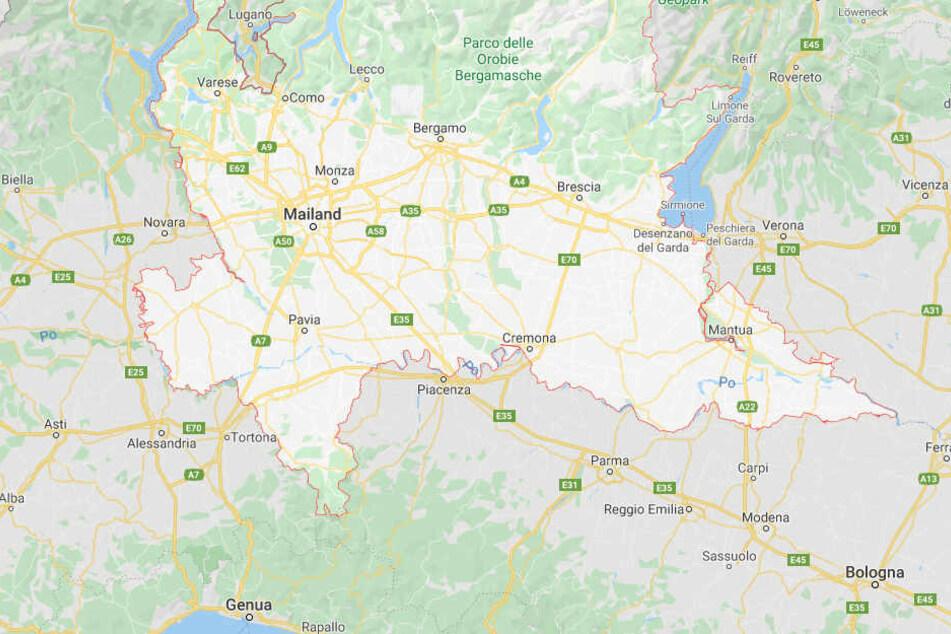 Die Region Lombardei im Norden Italiens.