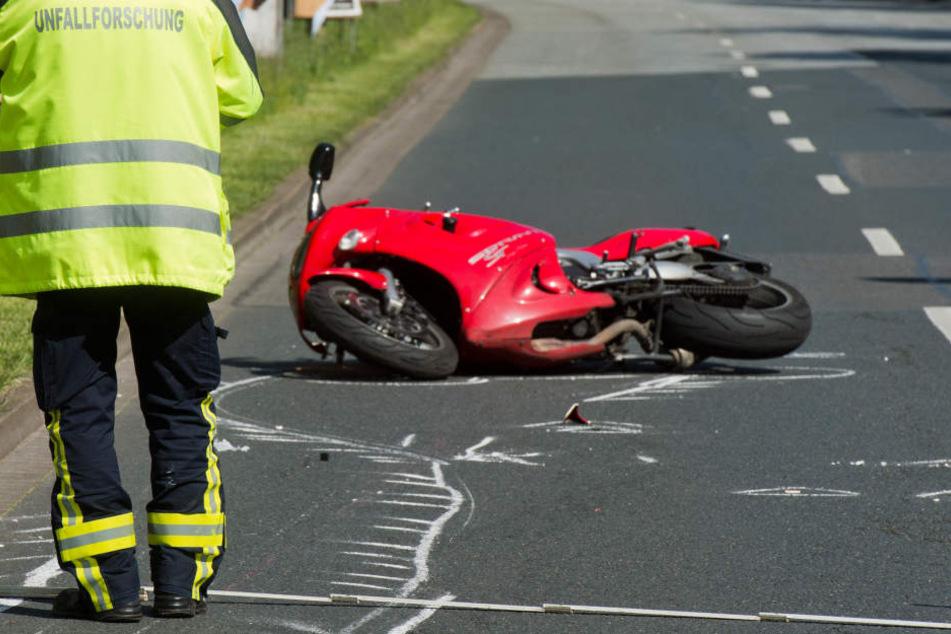 Im Kyffhäuser kam es am Donnerstag wieder zu zwei Motorradunfällen. (Symbolbild)