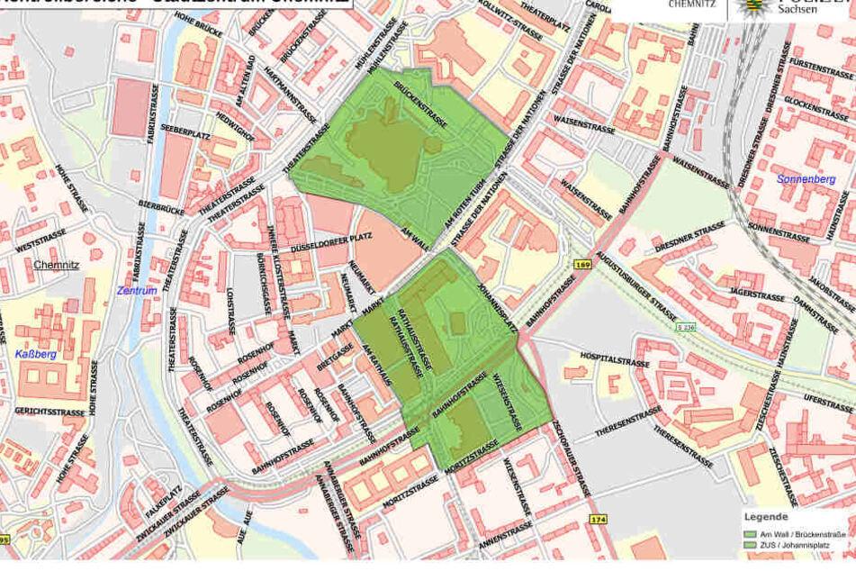 In den grün markierten Gebieten werden im August dauerhaft Kontrollen durchgeführt.
