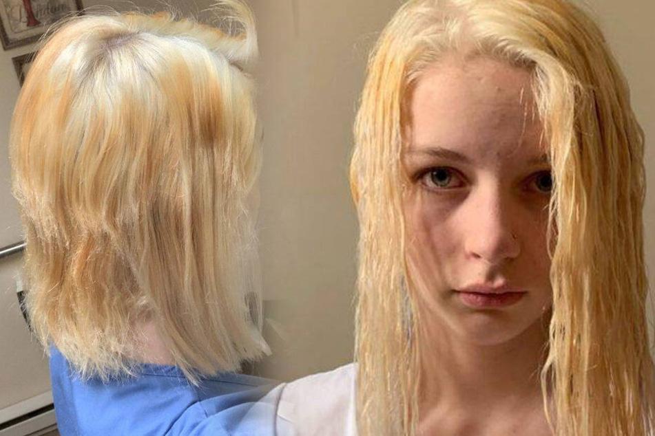 Schrecklich! Josies Haare sahen nach der Bleich-Aktion einfach schrecklich aus.