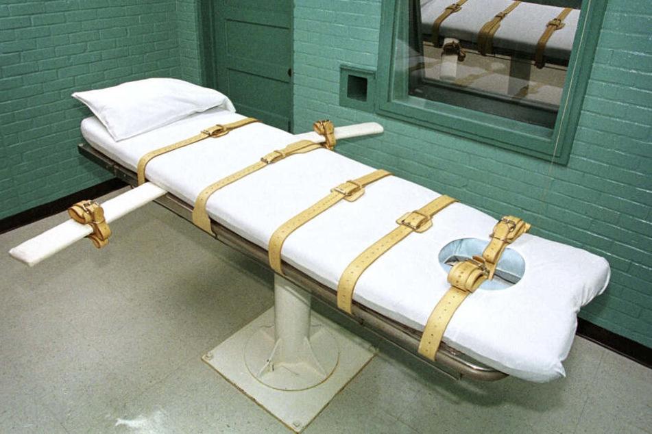 Eine Hinrichtungszelle im texanischen Huntsville. Hier wurden Häftlinge mit Injektionen getötet. (Archivbild)