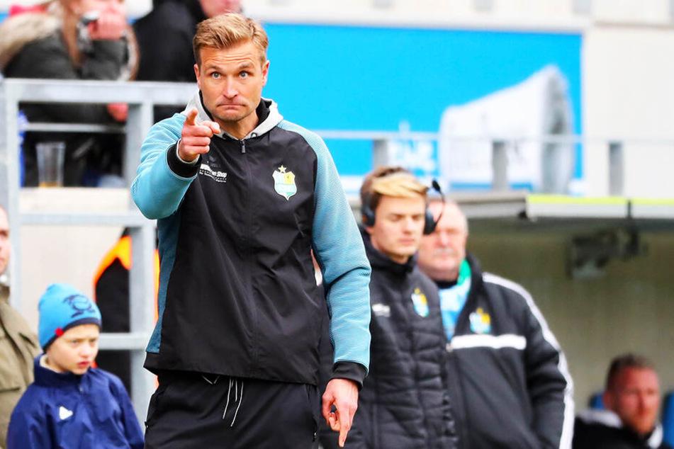 Auf dich setze ich: Trainer David Bergner will Daniel Frahn beim Auswärtsspiel beim BFC Dynamo einsetzen.
