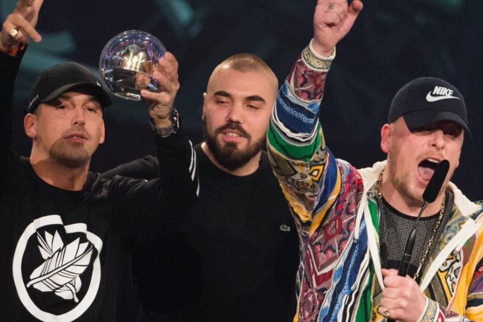 Die beiden Rapper haben für ihre Musik schon zahlreiche Preise abgeräumt, hier bei der 1Live Krone.