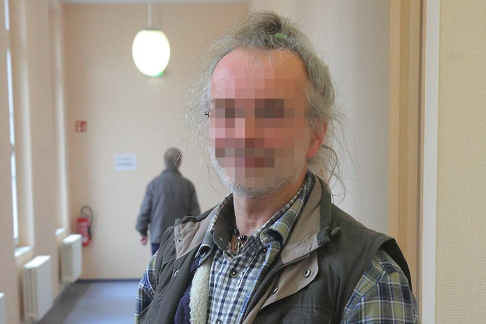 Roberto J. (57) am Montag am Amtsgericht in Kamenz.