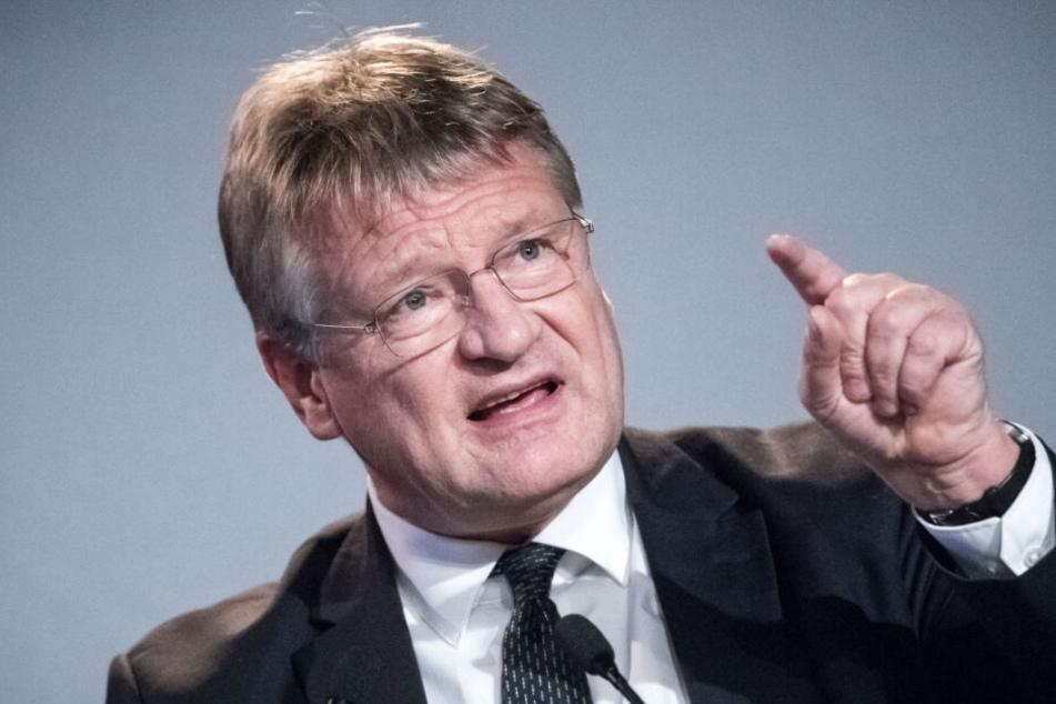 Jörg Meuthen spricht bei der Europawahlversammlung der AfD.