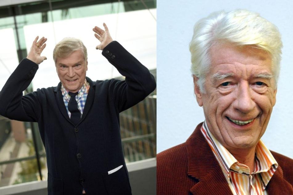 """Jochen Busse (77, l.) und Rudi Carell (†71) waren von 1996 bis 2005 zwei der Gesichter bei """"7 Tage, 7 Köpfe"""" (Archivbilder)."""