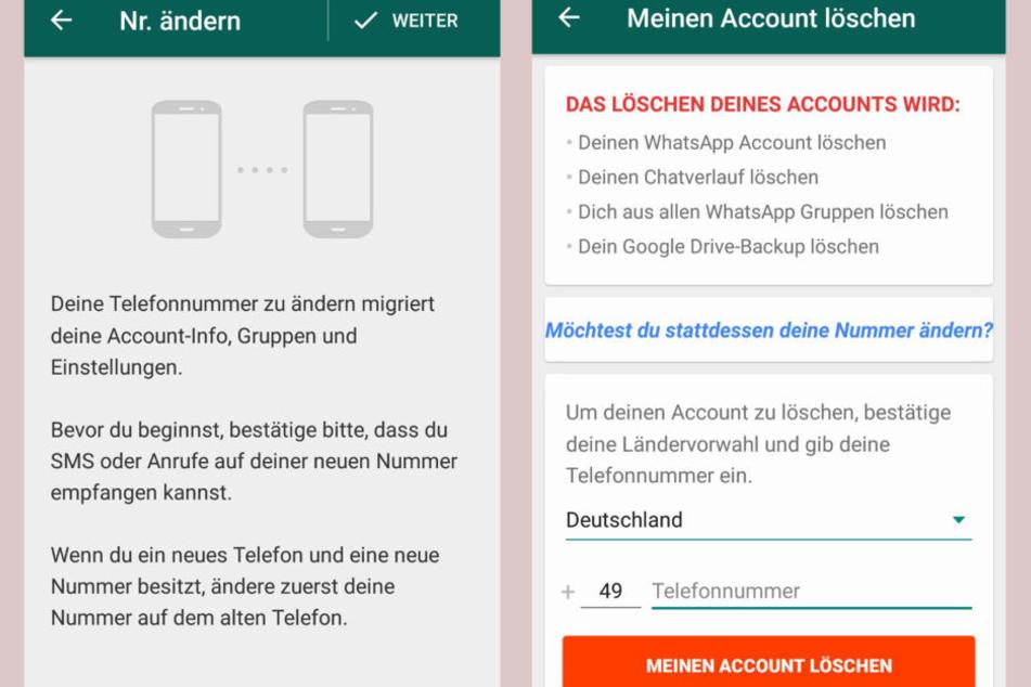 Whatsapp Rufnummernwechsel