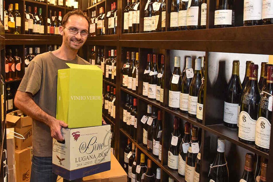 WeinKulturBar-Chef Silvio Nitzsche (44) freut sich über die süffige Auszeichnung.