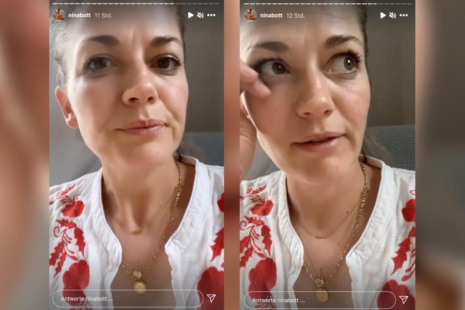 Auf Instagram meldet sich Nina Bott (43) aus der Corona-Quarantäne bei ihren Followern.