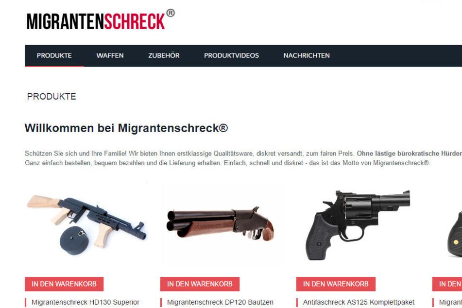Ein Mann aus Thüringen soll in einem Online-Shop Waffen mit Flüchtlingshetze verkauft haben.