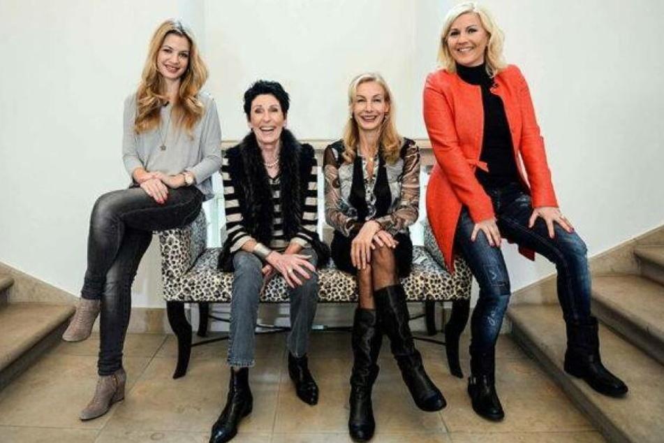 Das waren die ersten Dresdner Promi Shopping-Königinnen: Susan Sideropoulos (38), Erika Berger (†76), Ute Lemper (55) und Aleksandra Bechtel (46).