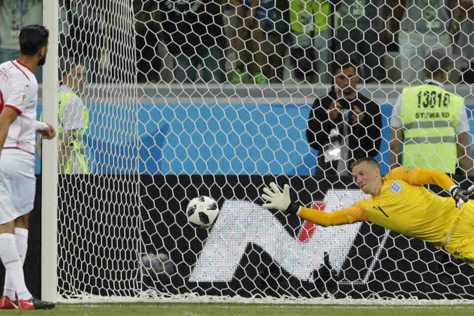 Jordan Pickford trickste schon erfolgreich während der Weltmeisterschaft.