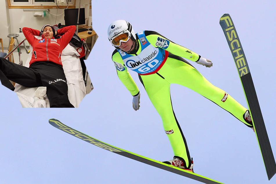 Kopfüber aufgeschlagen: Skispringerin nach Landung schwer verletzt