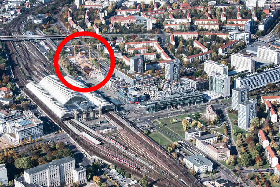 Am Wiener Platz entsteht Dresdens neuer Fernbus-Terminal.