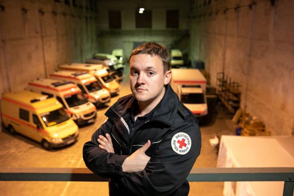 Meißens DRK-Chef Christoph Ruppert (24) wünscht sich ein gemeinsames Depot für alle Einheiten.