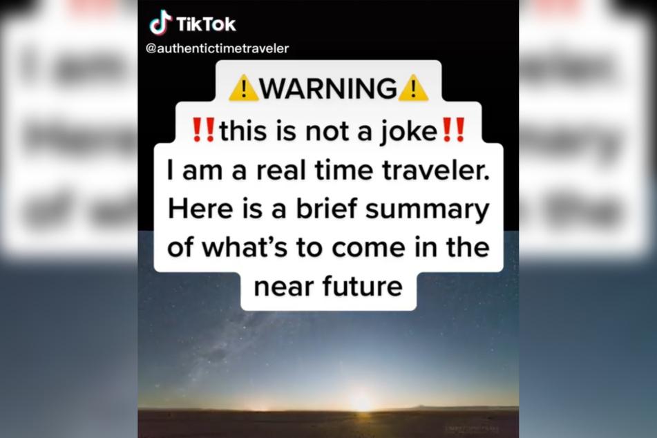 """Der """"glaubwürdige Zeitreisende"""" schreibt in jedes seiner Videos ausdrücklich dazu, dass es """"kein Scherz"""" sei. Ernstzunehmen ist das Ganze trotzdem nicht."""