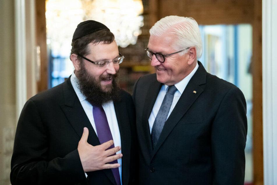 Nach Antisemitismus-Übergriff: Bundespräsident Steinmeier trifft Rabbiner