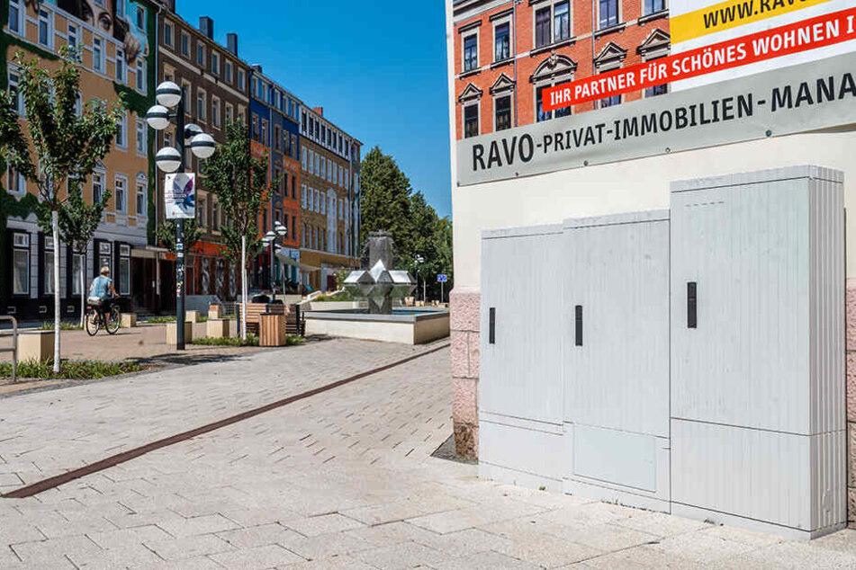 """Eine Stromkästen-Galerie auf dem Brühl? Diese Idee können Chemnitzer noch bis Dienstag im Voting """"Nimm Platz!"""" wählen."""