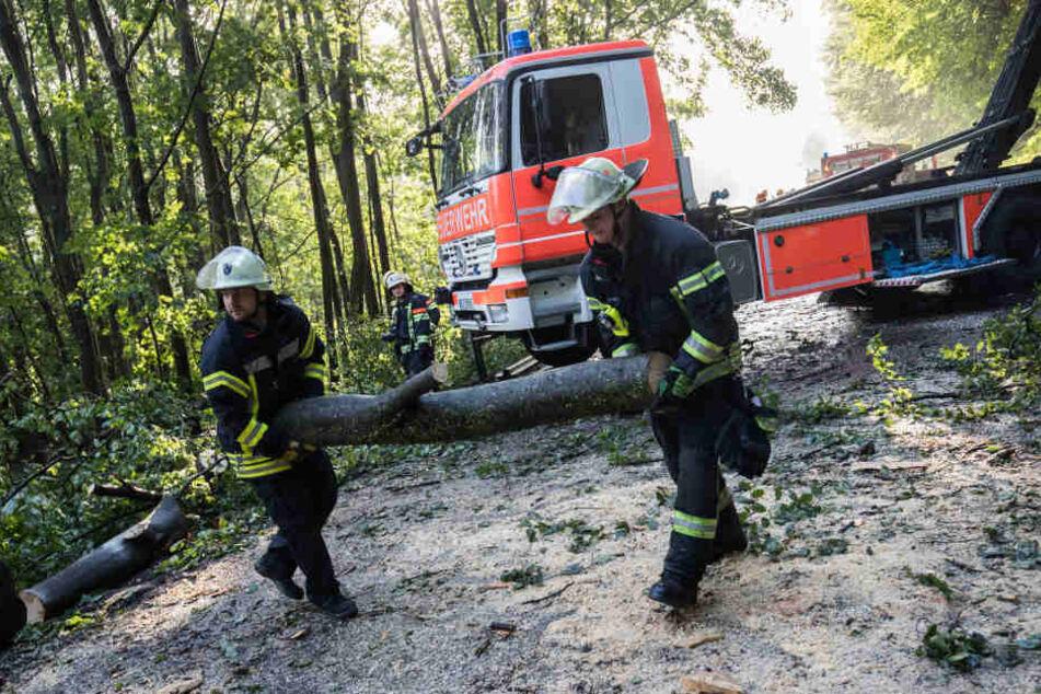 Die Feuerwehr hatte in der Nacht und am Morgen alle Hände voll zu tun, um die Schäden zu beseitigen.