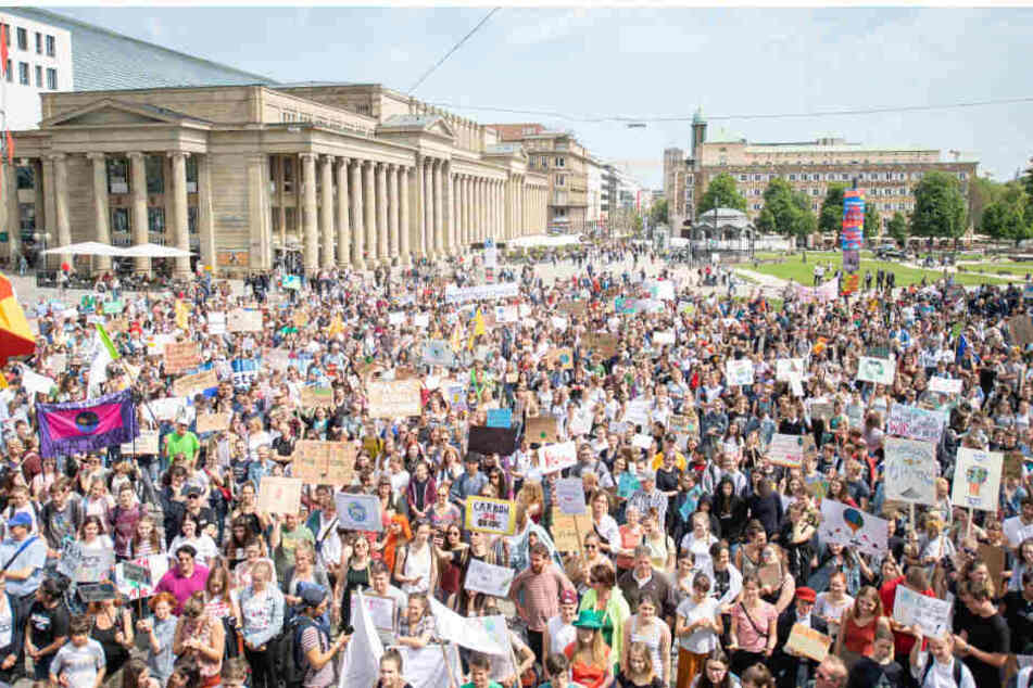 In Stuttgart demonstrierente im Sommer die Fridays for Future-Bewegung.