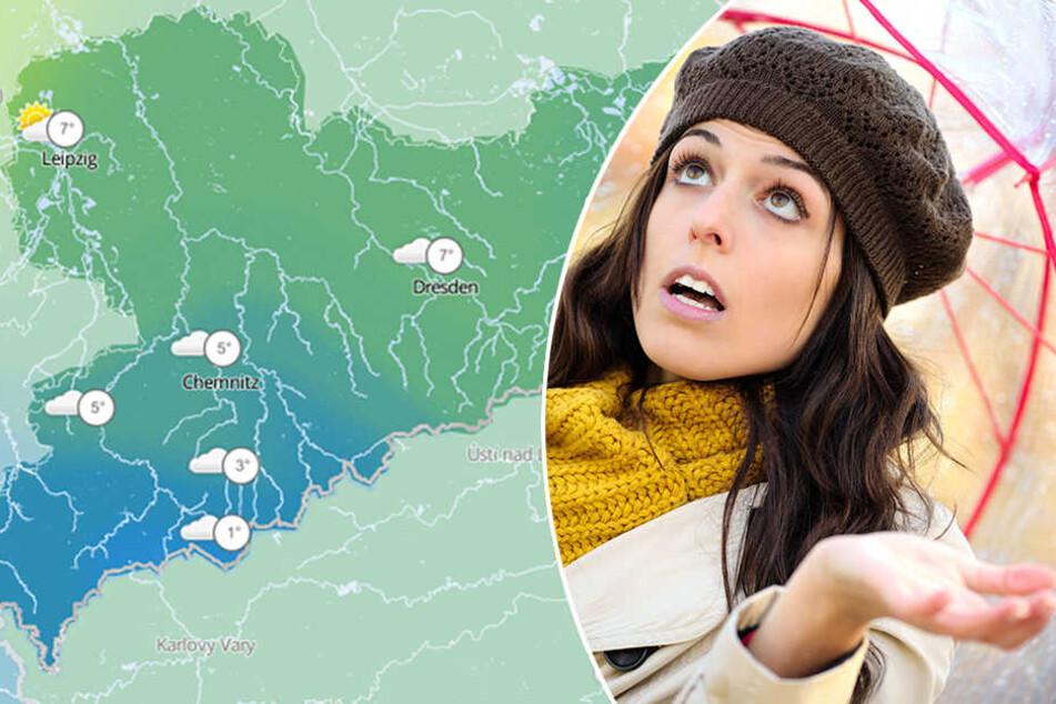 In weiten Teilen Sachsens bleibt es mild und trüb.