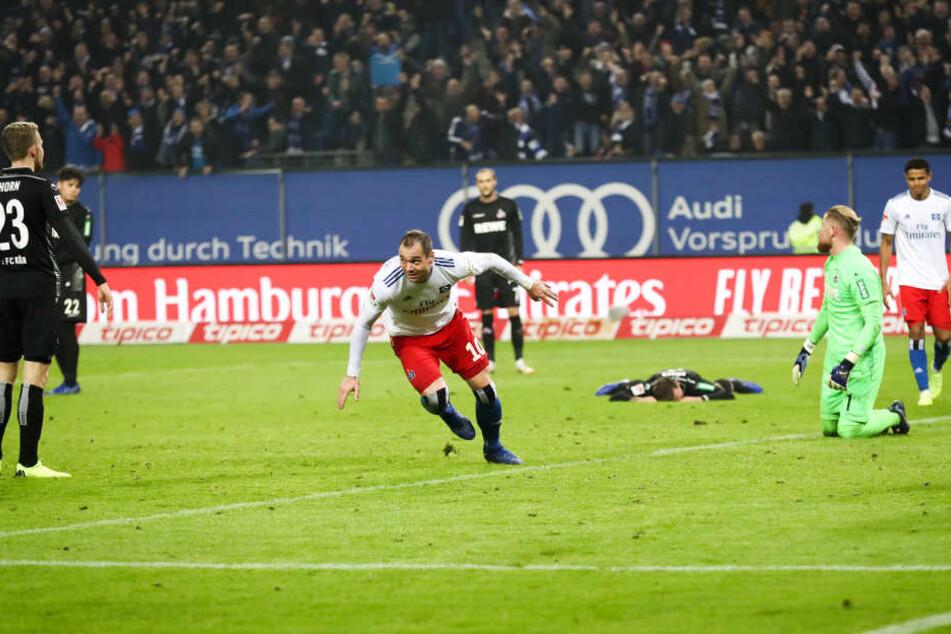 Hamburgs Lasogga gelang der goldene Treffer in der 86. Minute.