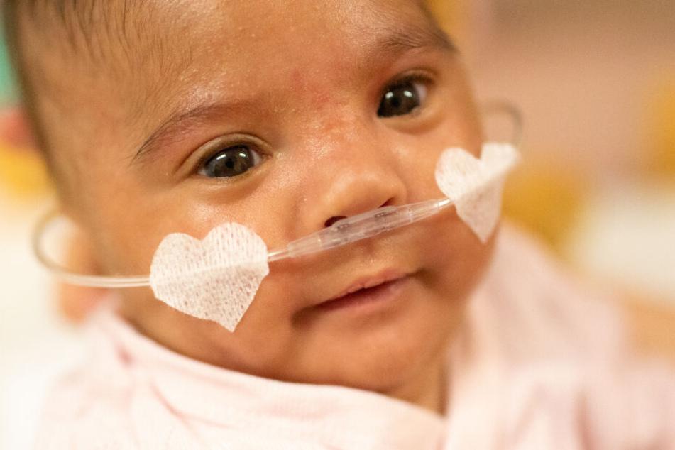 Die kleine Sofia wog bei der Geburt nur 265 Gramm. Inzwischen hat sie deutlich zugenommen.