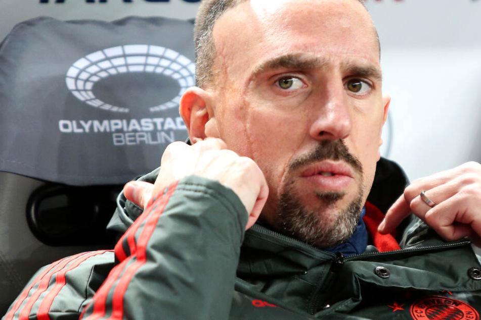 Das Foto zeigt Franck Ribéry im Februar 2019: Spielt der 36-Jährige bald für Frankfurt?