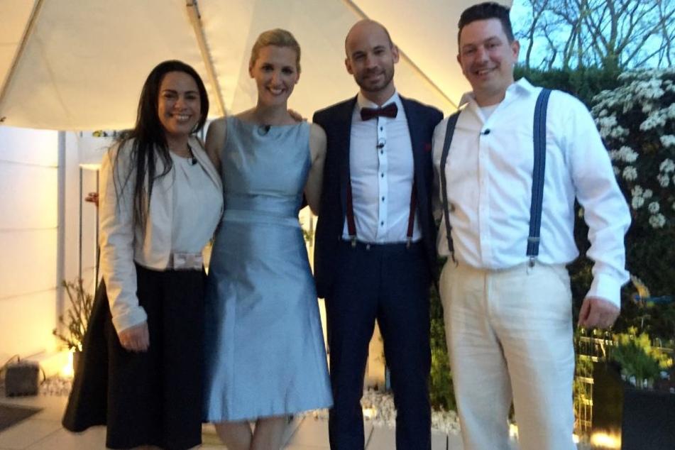 """V.l.: Cristina, Silke, Carlos und Thomas bei """"Das perfekte Dinner"""""""