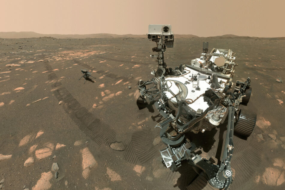 NASA rover takes a selfie with miniature helicopter on Mars!