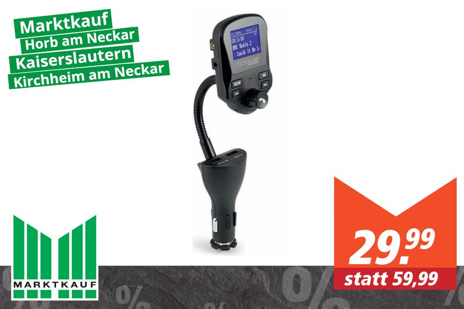 Technaxx FM-/DAB+-Transmitter FMT1500 für 29,99 Euro
