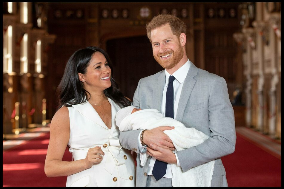 Meghan and Harry immediately following son Archie's birth in 2019.