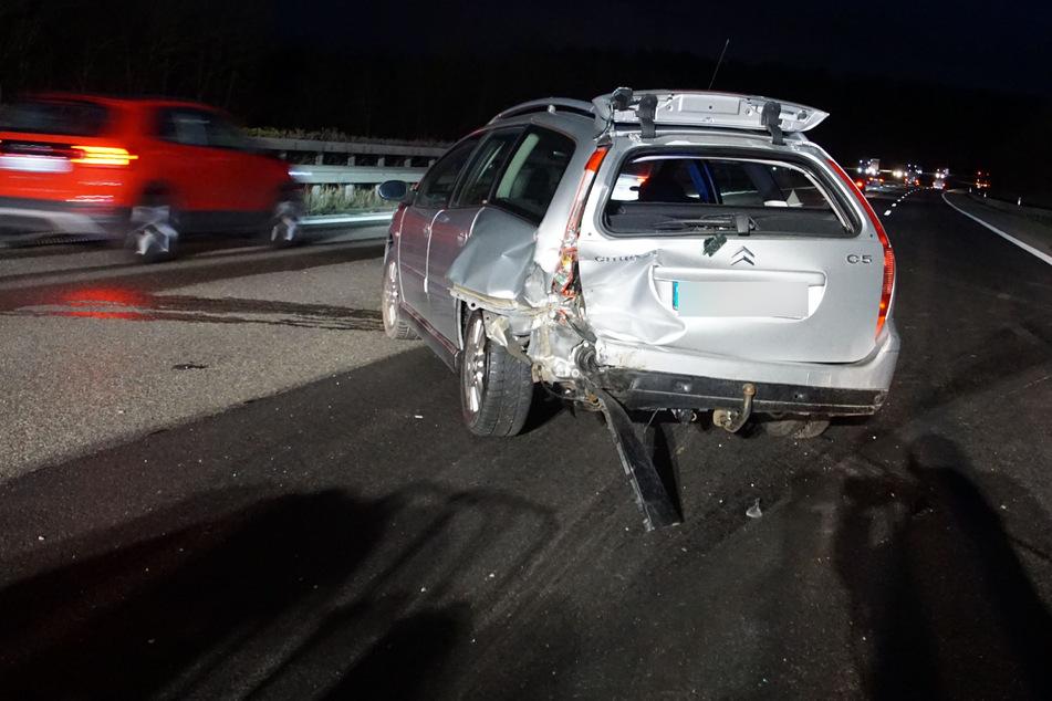 Einer der am Unfall beteiligten Wagen.