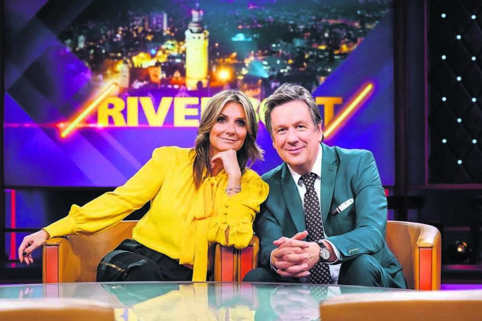 """Wieder vereint: Kachelmann und Fisher moderieren am Freitag das """"Riverboat"""" im MDR."""