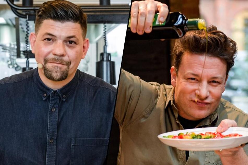 Duell der Super-Köche: Tim Mälzer und Jamie Oliver brutzeln um die Wette