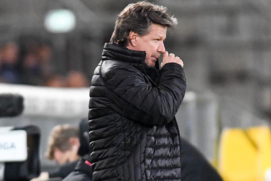 Arminia-Trainer Jeff Saibene will gegen Sandhausen weiter punkten, um eine gute Position einzunehmen.