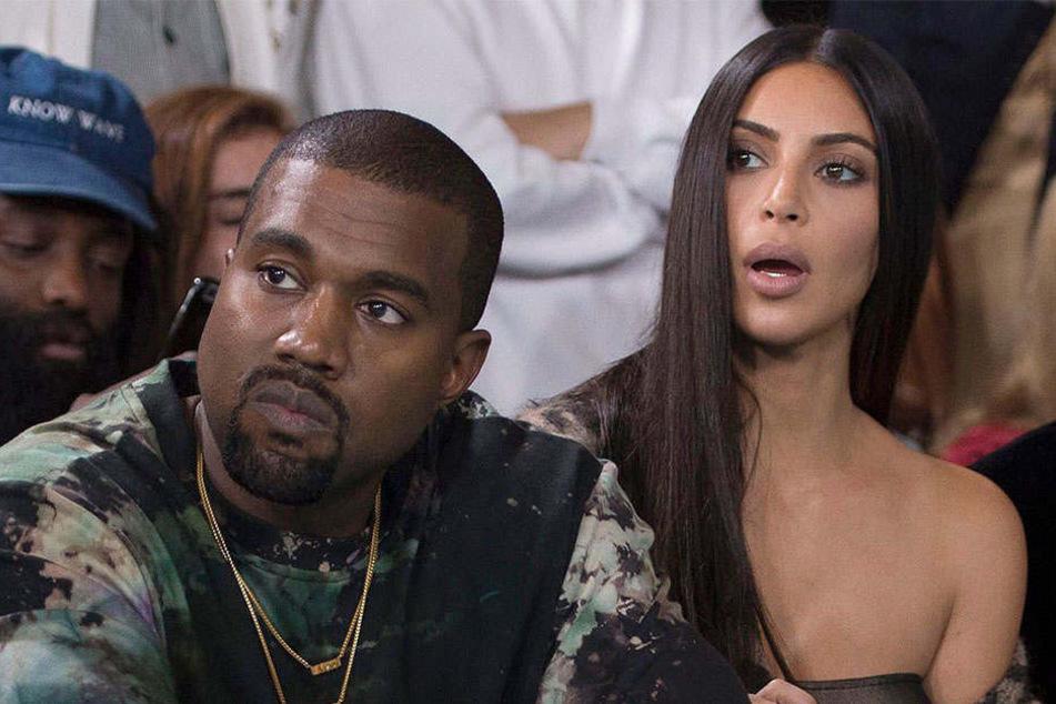 Kim Kardashian, hier mit Ehemann Kanye West, kassiert mal wieder einen Shitstorm.