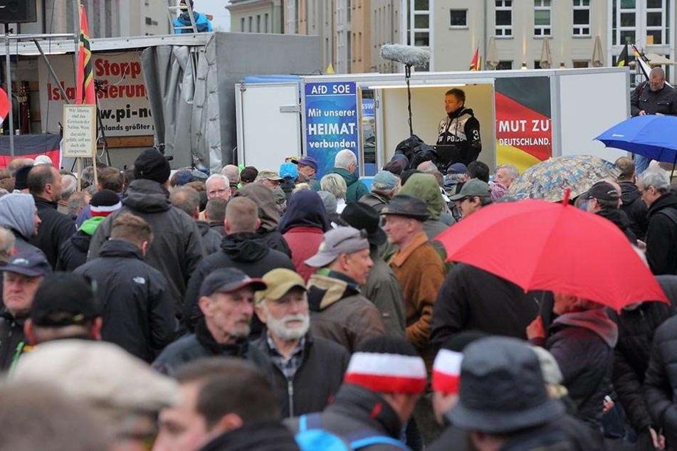 Blick auf eine AfD-Demo im Mai in Dresden. Die Anhänger der Partei kommen laut einer Studie aus allen sozialen Schichten.
