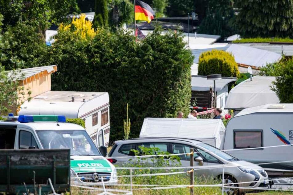 Die Polizei durchsuchte erneut eine Parzelle auf dem Campingplatz in Lügde.