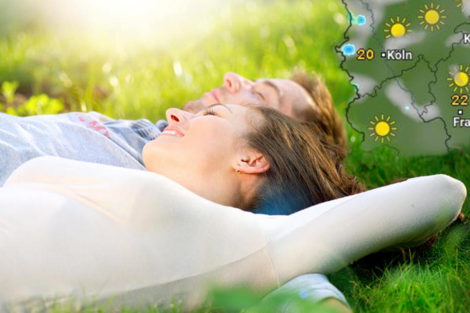 Viele Sonnenstunden gibt es am Sonntag und Montag.