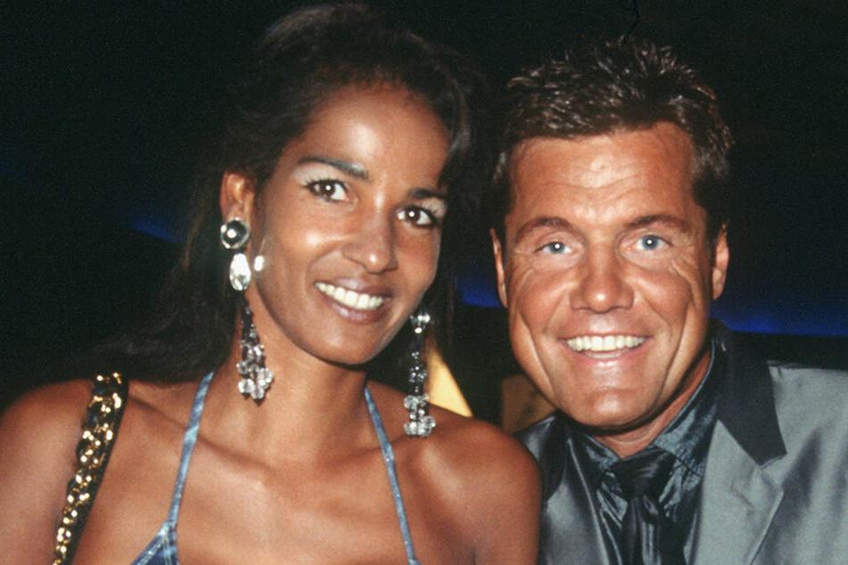 """1999: Ein Bild aus guten Zeiten - Popstar Dieter Bohlen mit seiner Freundin Nadja Abdel Farrag (""""Naddel"""") bei der Verleihung der World Music Awards in Monte Carlo."""