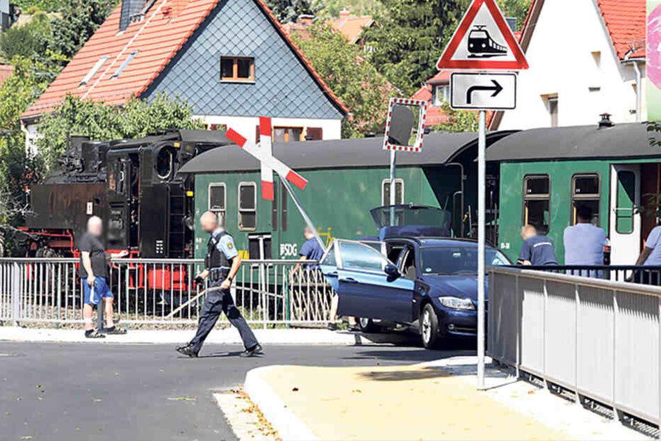 Am Bahnübergang in Moritzburg hatte es gekracht.