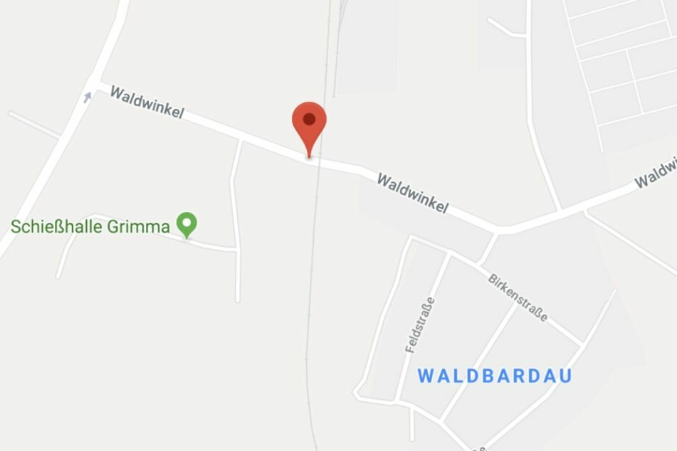 Der betroffene Bahnübergang befindet sich im Grimmaer Ortsteil Waldbardau.
