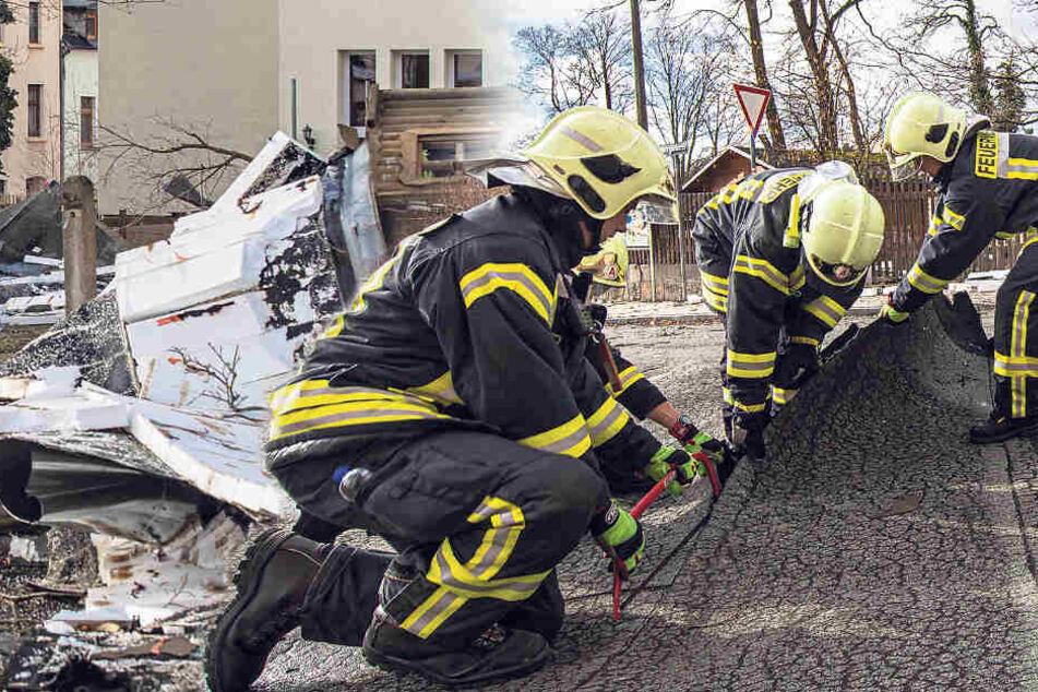 """Dächer abgedeckt, Kita evakuiert: So pustete """"Sabine"""" Sachsen durch"""