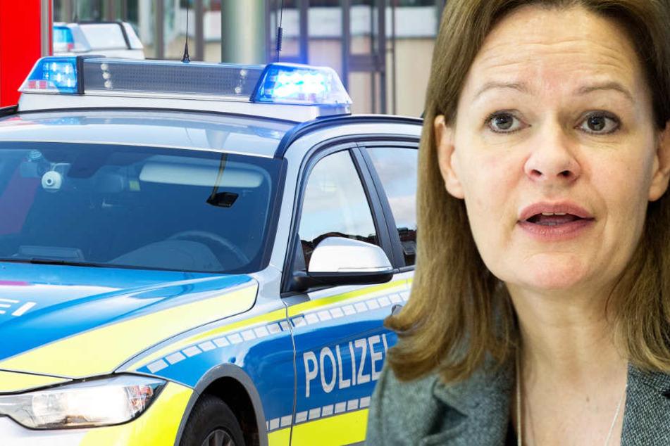 Nancy Faeser und die Hessen-SPD wollen für jede Polizeidienststelle einen zusätzlichen Streifenwagen mit Besatzung.