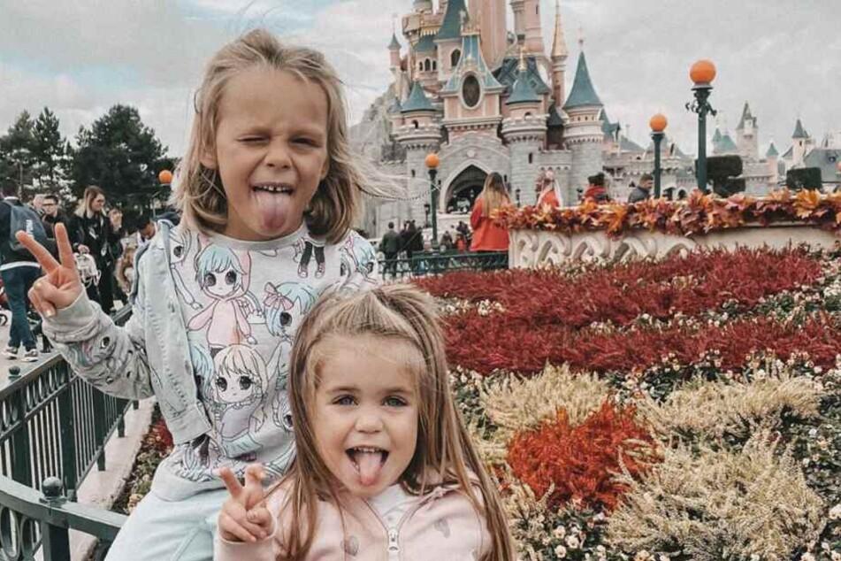 Anne Wünsches Töchter: Miley (6, l.) und Juna (4).