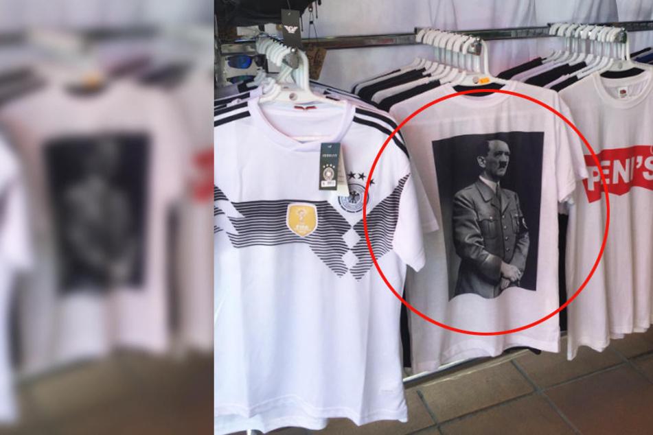 Auf der Schinkenstraße am Ballermann soll diese Hitler-T-Shirts zu kaufen geben.