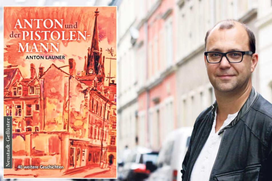 """Die Spannung steigt: Am 16. September erscheint das neue Neustadt-Buch """"Anton und der Pistolenmann"""" von Jan Frintert (43)."""